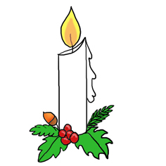 Candle Light Clip Art.