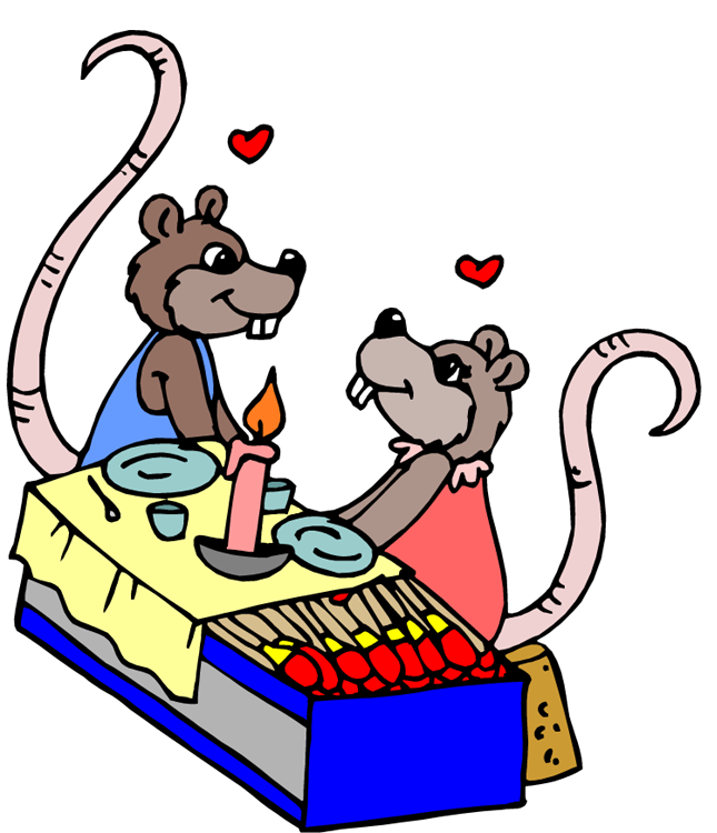 Candlelight Dinner Clipart.