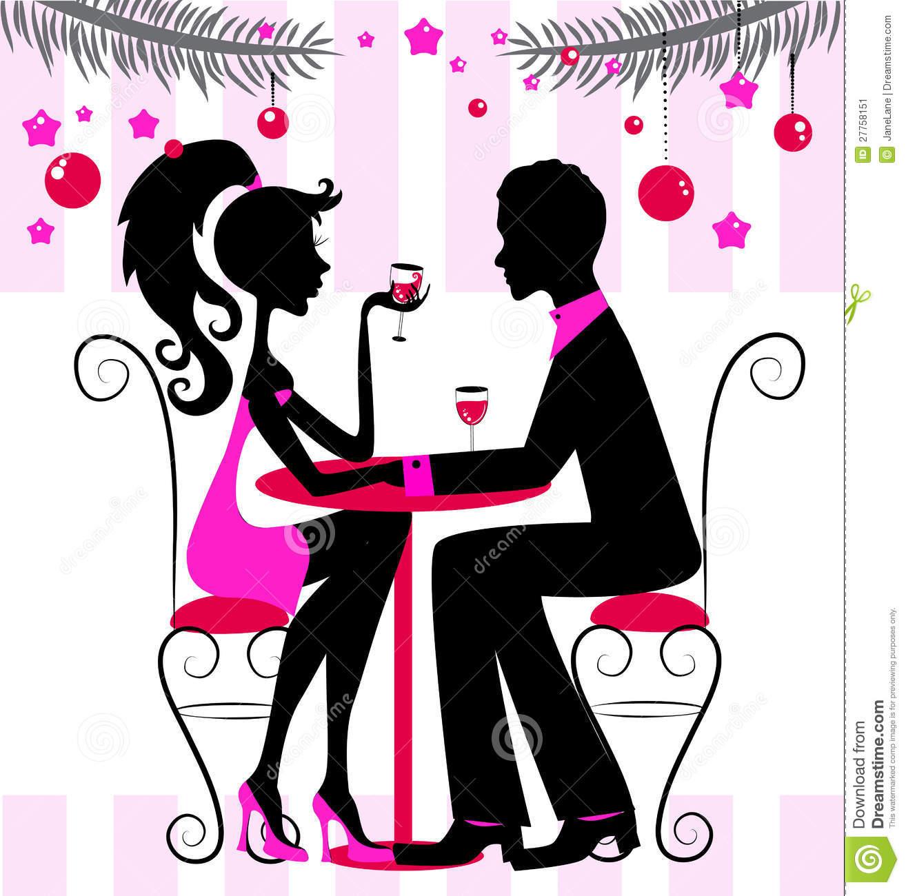 Romantic Dinner Clipart.