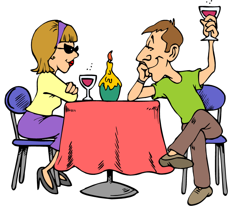 Candlelight dinner menu clipart.