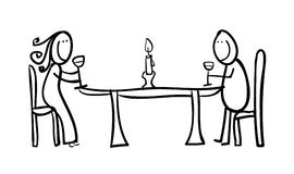 Candle light dinner clipart.