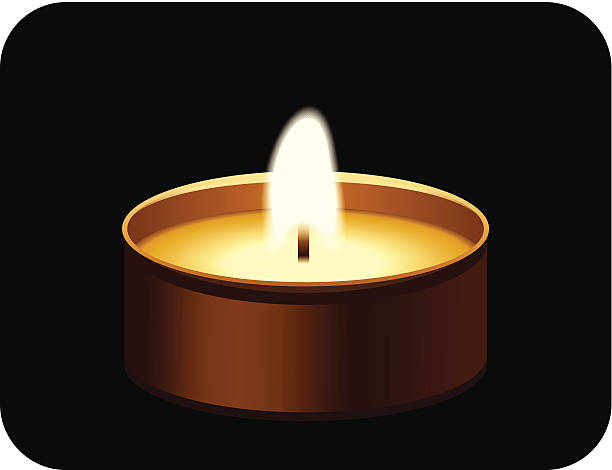 Candle Candlelight Tea Light Burning Clip Art, Vector Images.