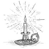 Candle Lighting Clip Art.