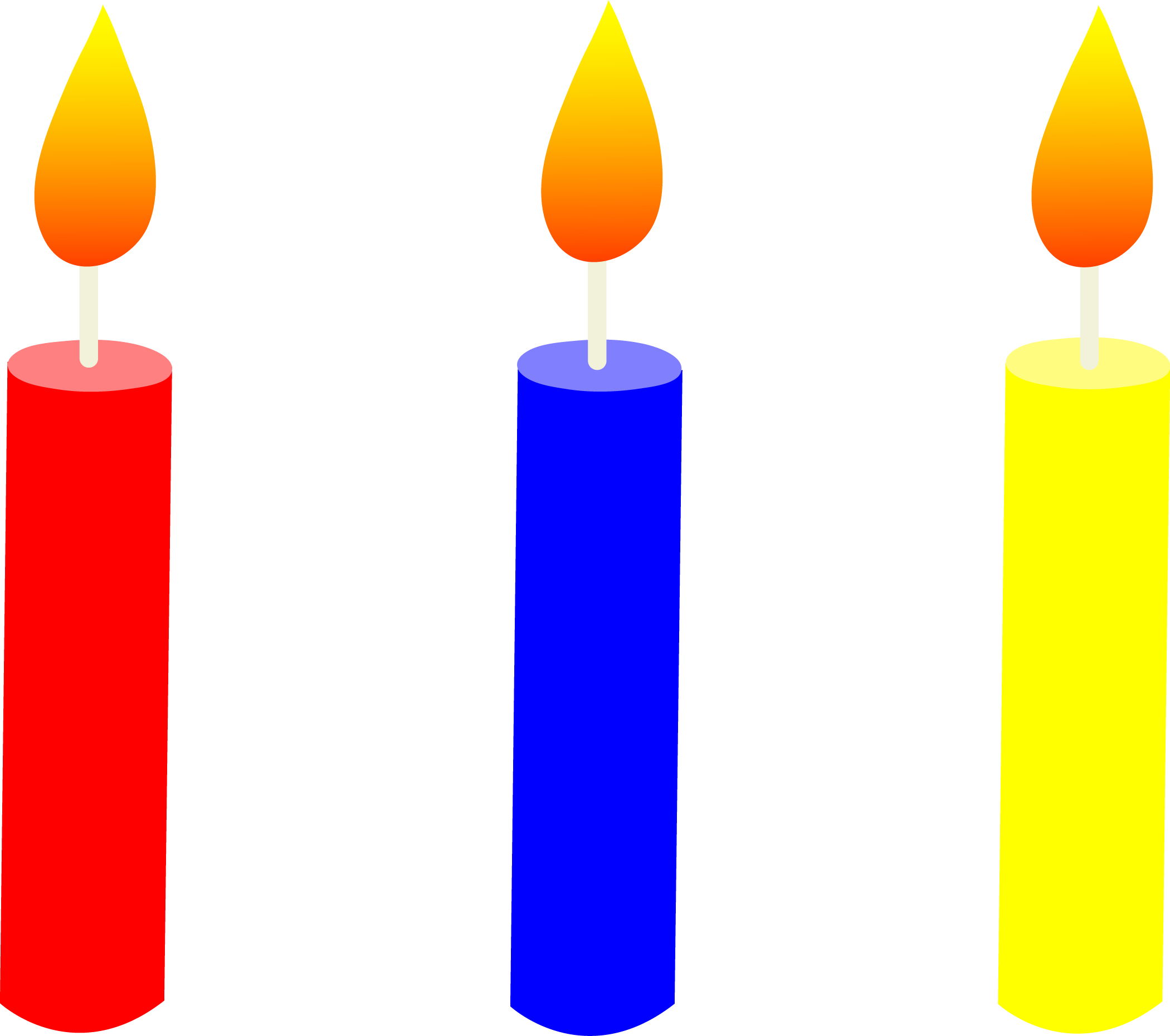 Cliparts Blue Candle Clipart.