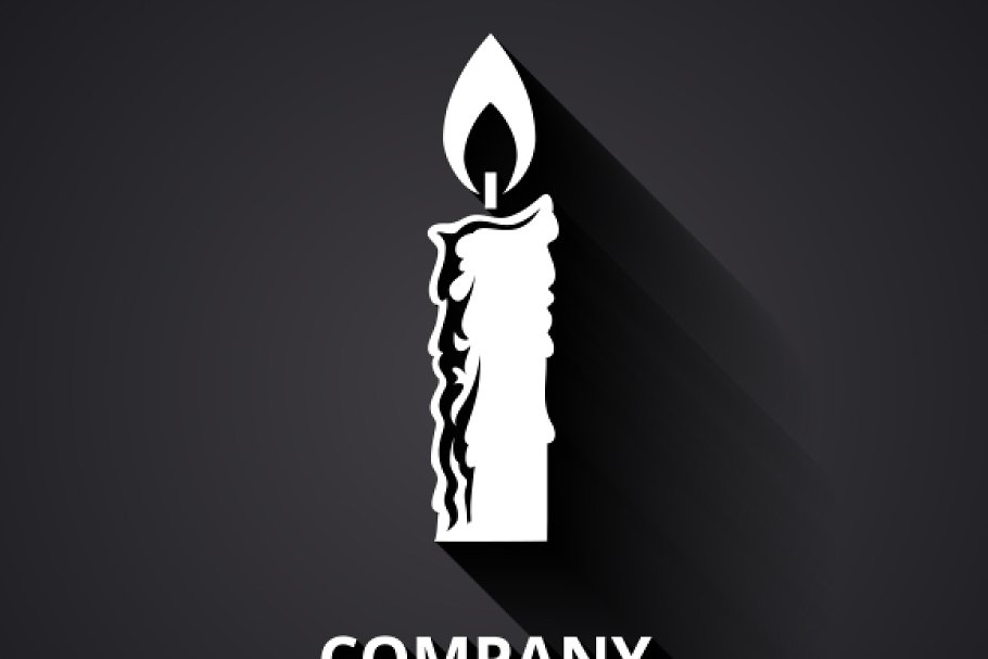 Modern candle logo.