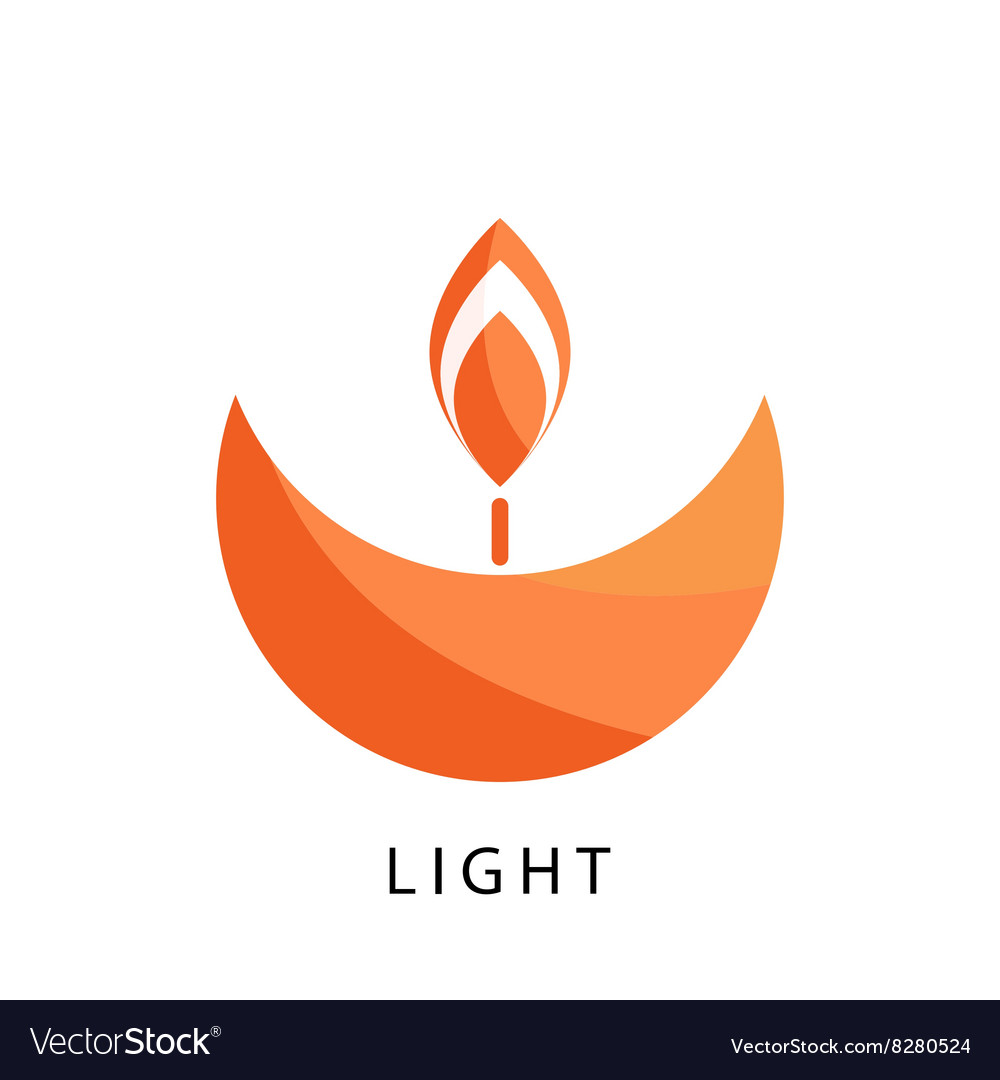 Candle logo template Stylized religion and.