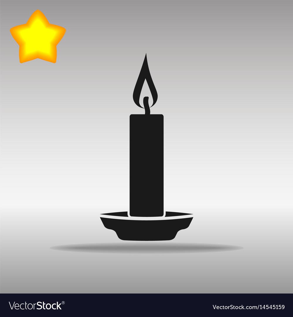 Black candle icon button logo symbol concept.