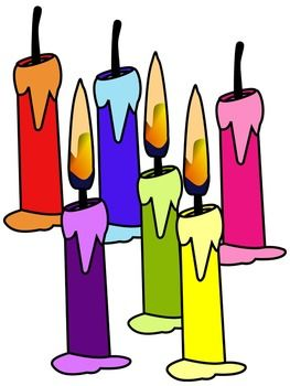 Candle clip art * color and black and white.