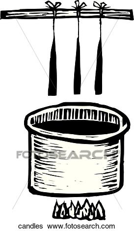 Candle Making Clip Art.