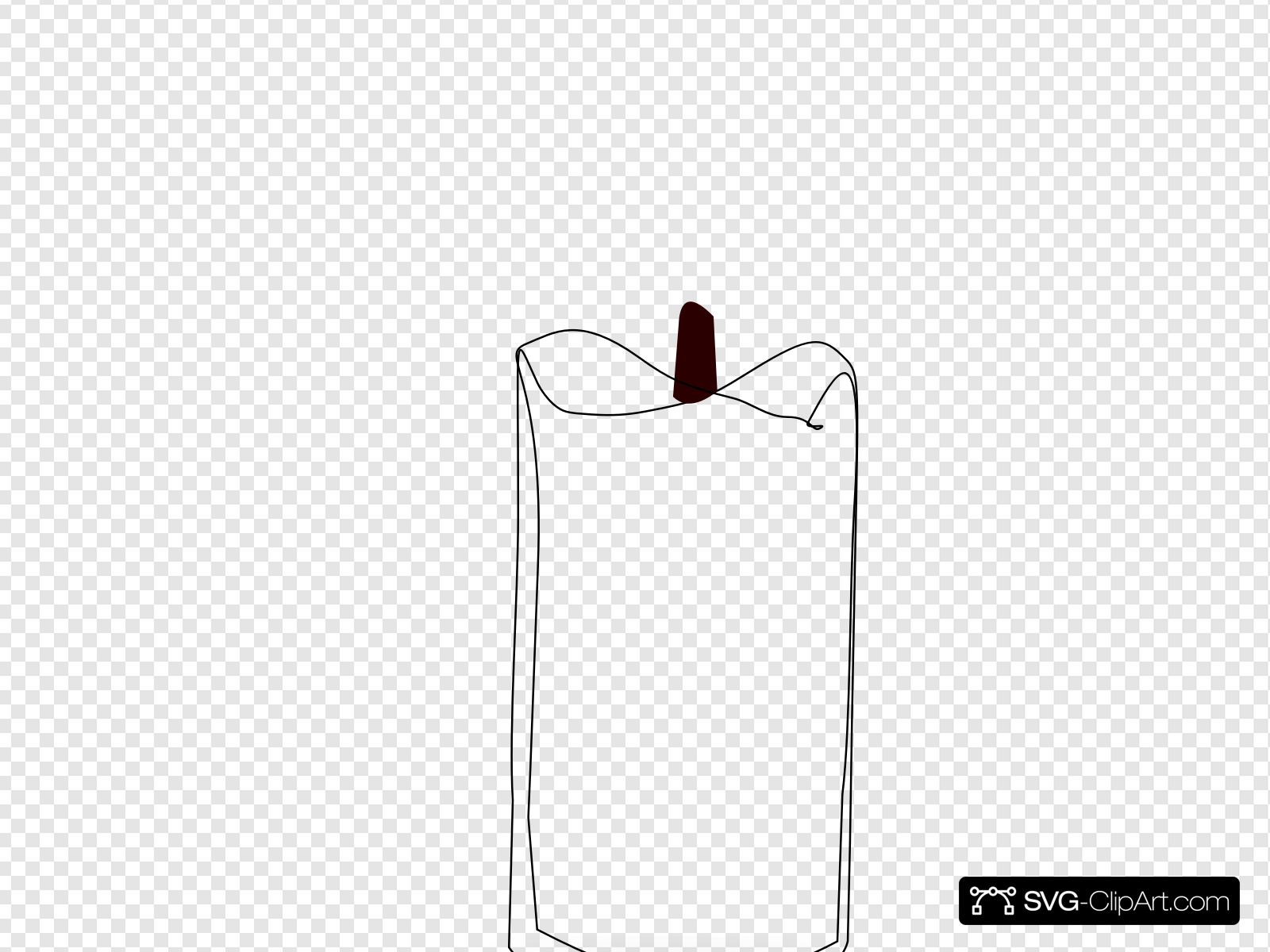 Candle Outline Clip art, Icon and SVG.