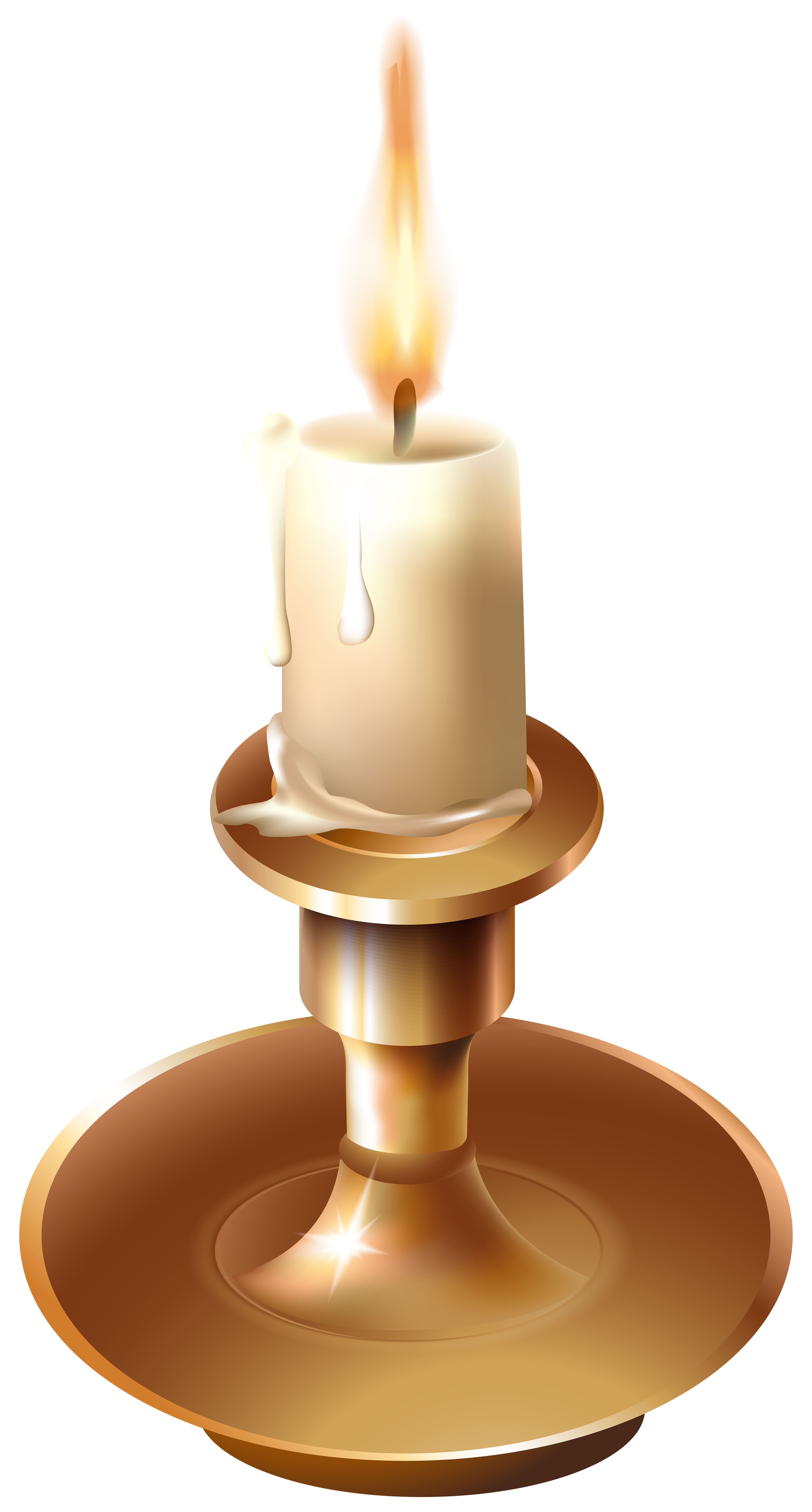 Vinatge Candlestick PNG Clip Art.
