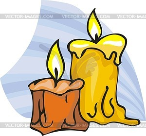 wax of candles.