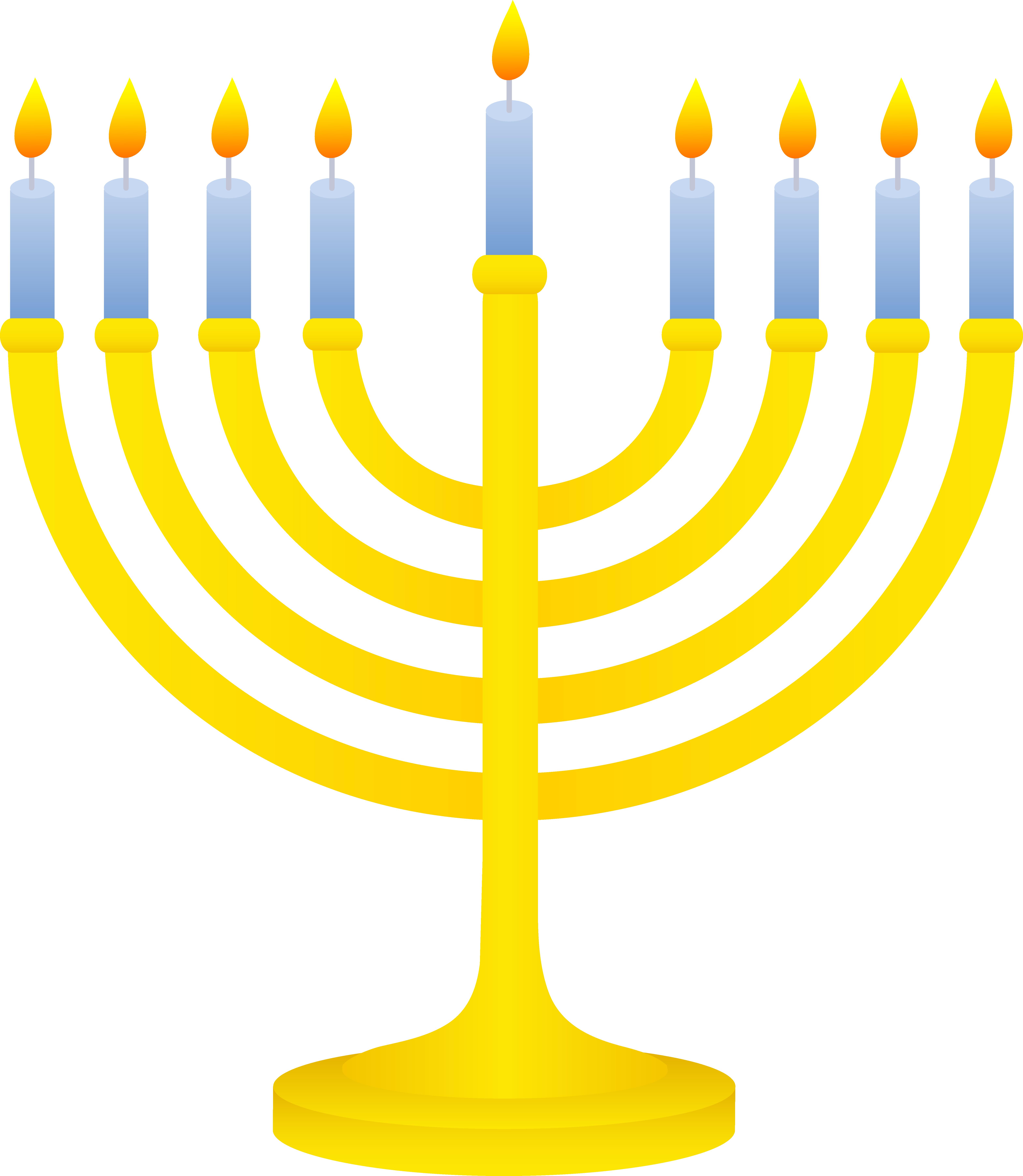 Clip Art Hanukkah Candle Holder.