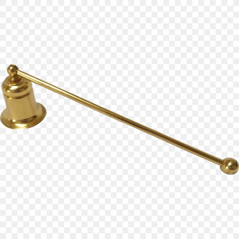 Brass Candle Lighter With Bell Snuffer Candle Snuffers, PNG.