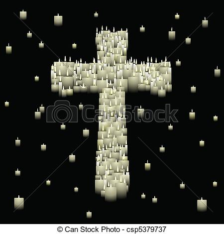 Vectors Illustration of Candle cross.