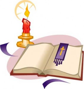 Candle And Bible Clipart.