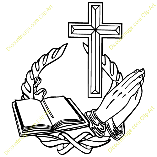 Cross And Bible Clipart.