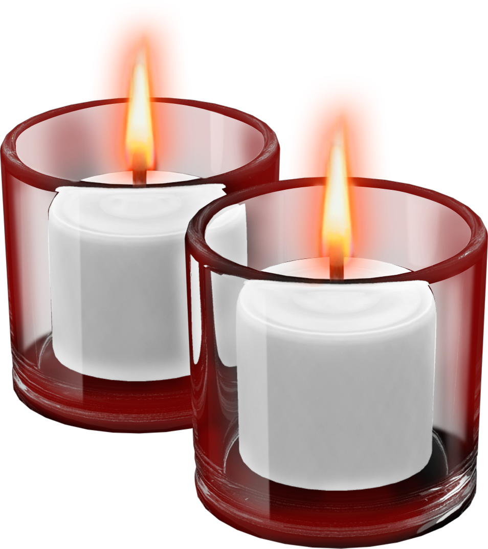 Red Cups with Candles Clipart.