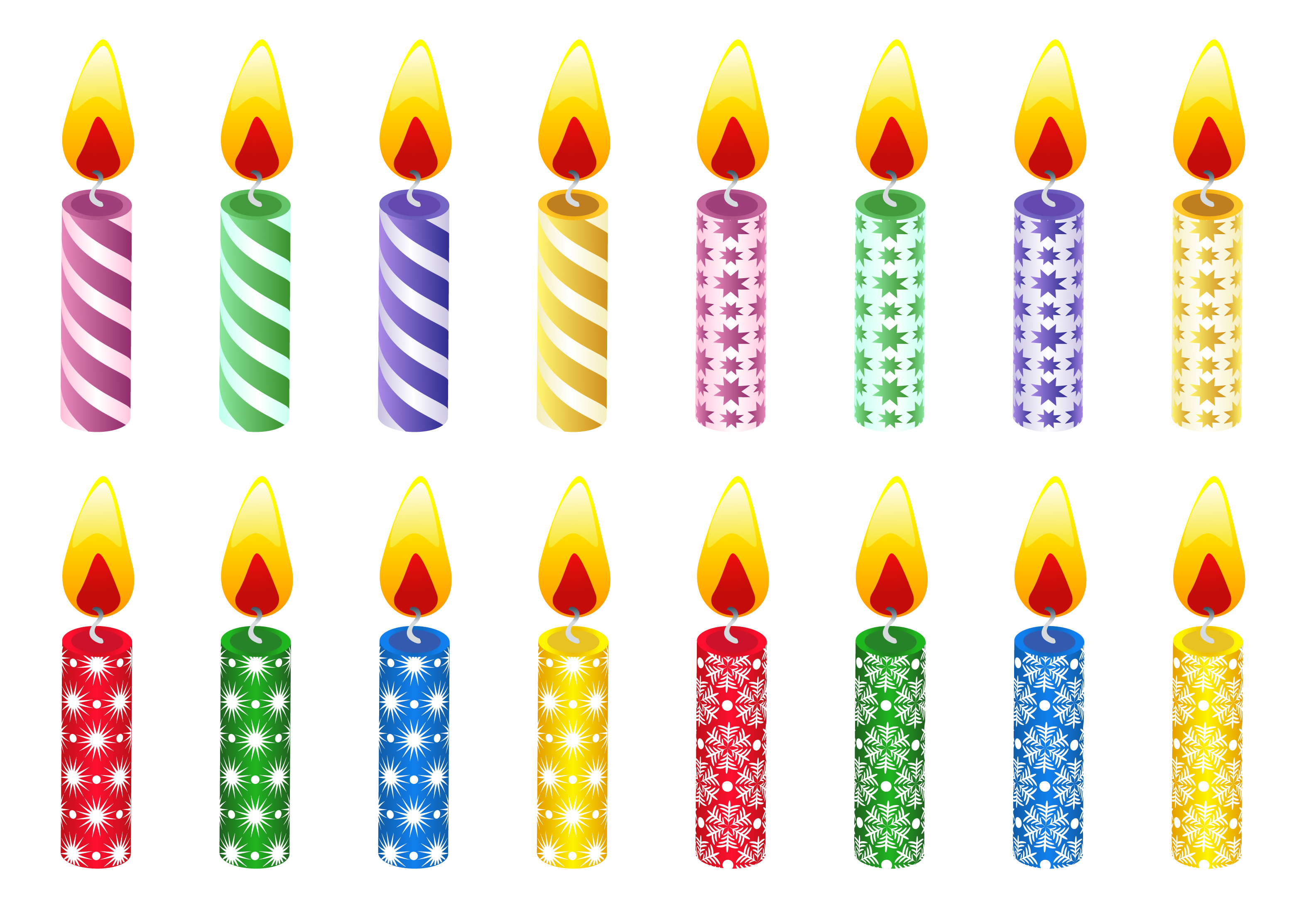 Birthday candles clip art.