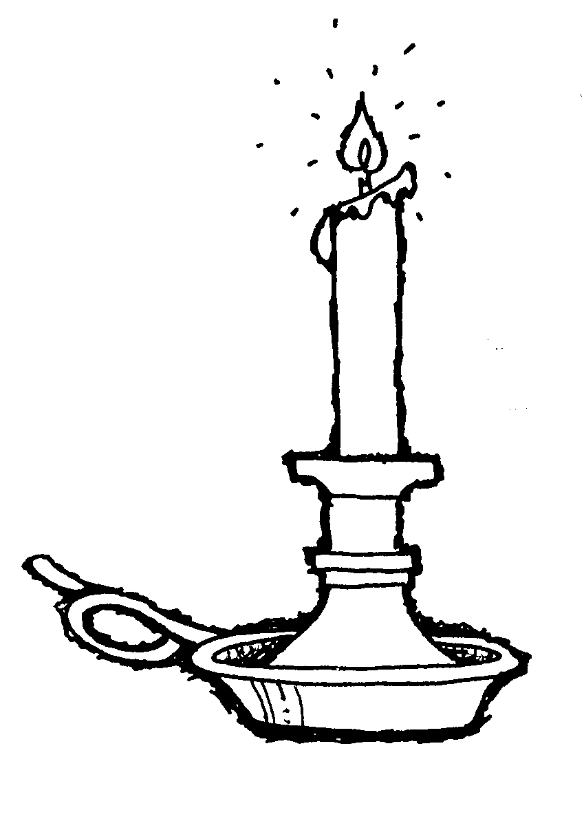 Candles clipart black and white 4 » Clipart Station.