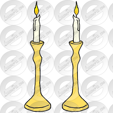 Candlesticks Picture for Classroom / Therapy Use.