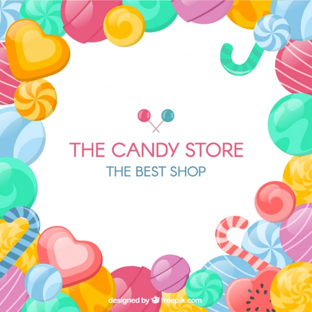 Candy store background Vector.