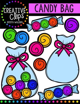 FREE Candy Bag {Creative Clips Digital Clipart}.