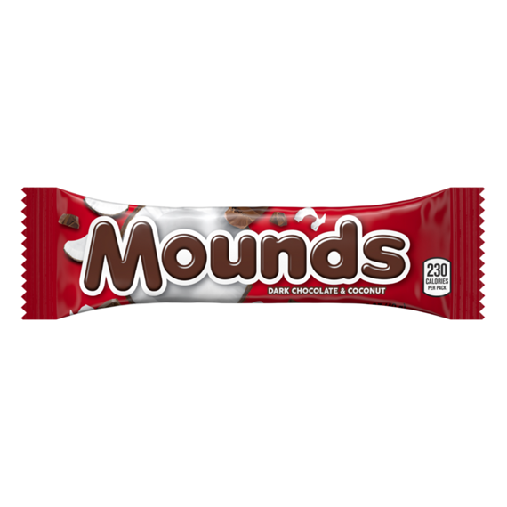 MOUNDS Candy Bars.
