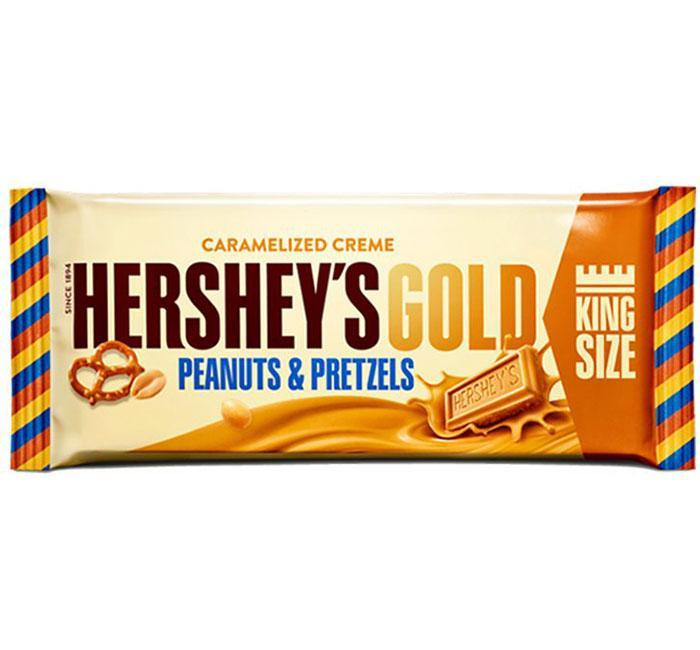 Hershey's Gold Peanuts & Pretzels King Size Candy Bar 2.5 oz..
