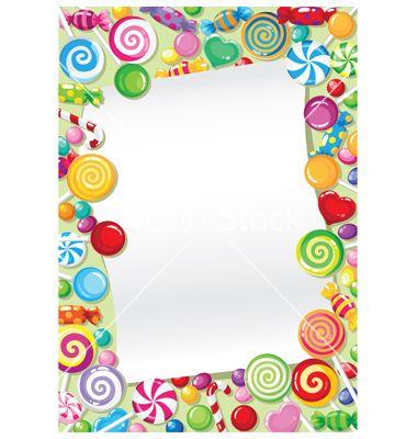 Candy Bar Border Clipart.