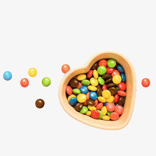 Heart Candy Box Of Sugar Beans, Heart Clipart, Sugar Clipart, Heart.
