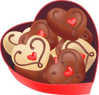 Clipart heart candy box.