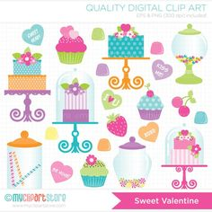 Candy Buffet Clipart.