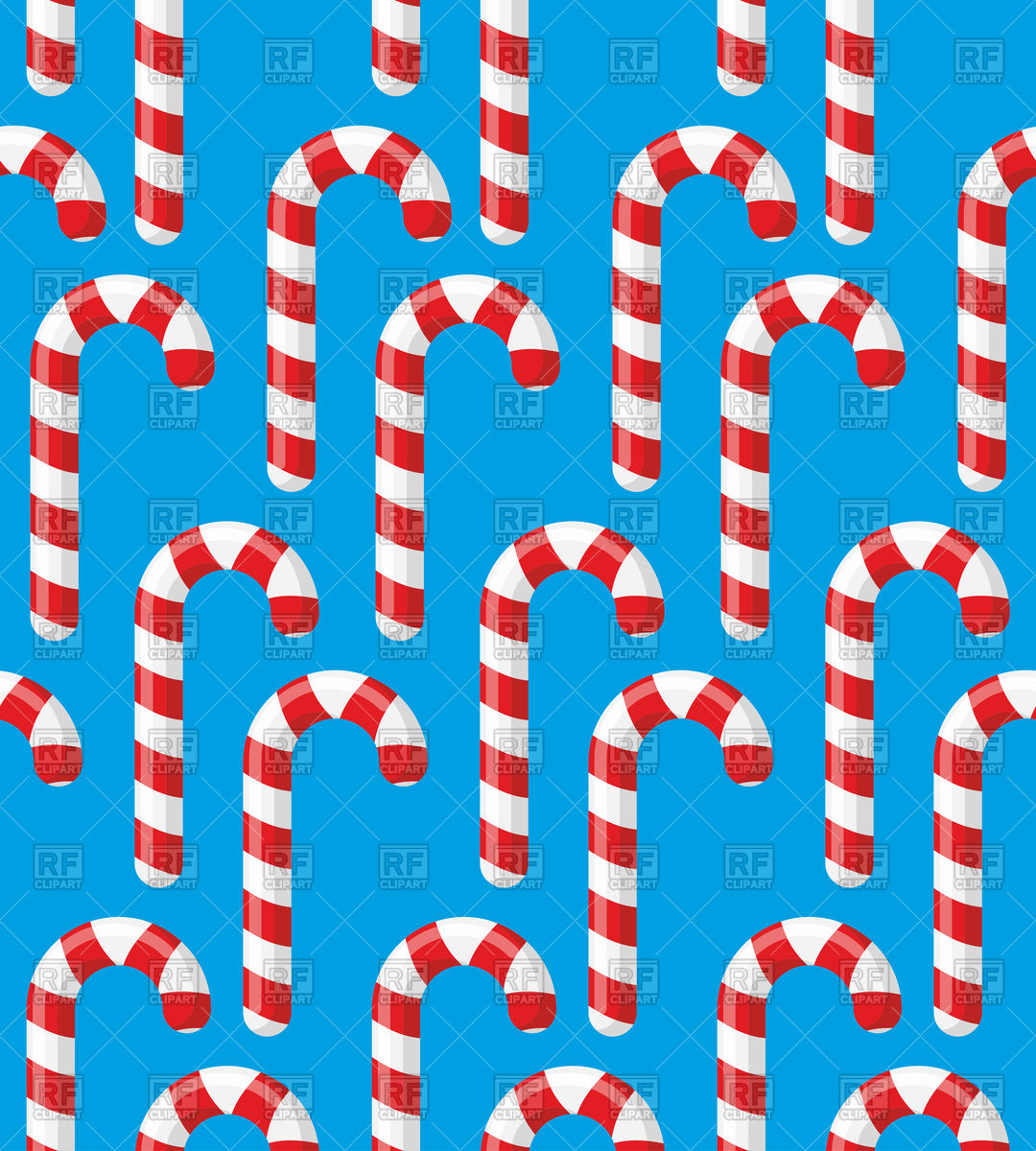 Christmas background with candy cane on blue Stock Vector Image.