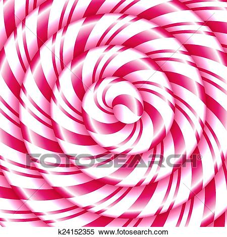 Candy cane sweet spiral abstract background Clipart.