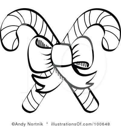Candy cane clipart black and white 1 » Clipart Station.