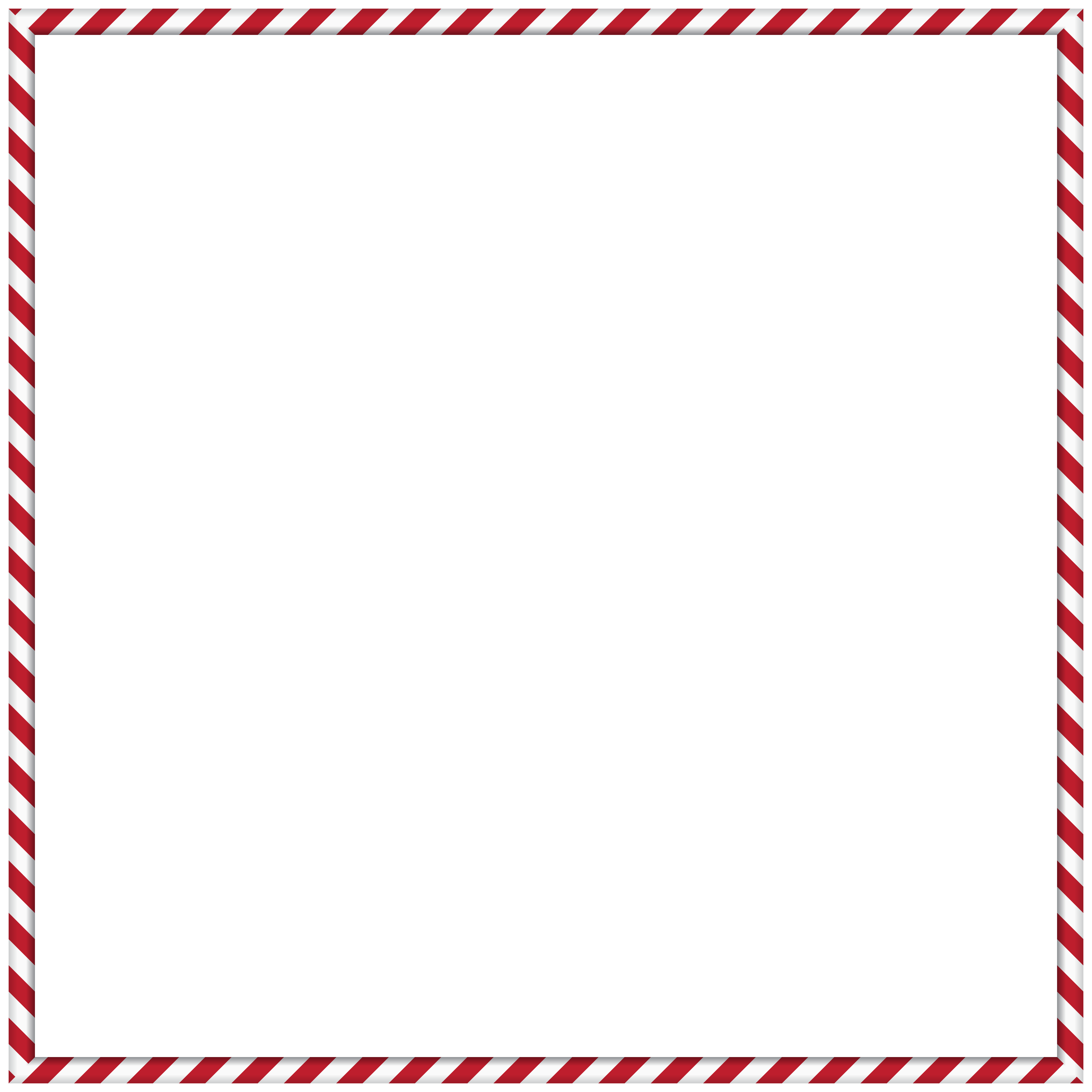 Candy Cane Border PNG Clip Art.