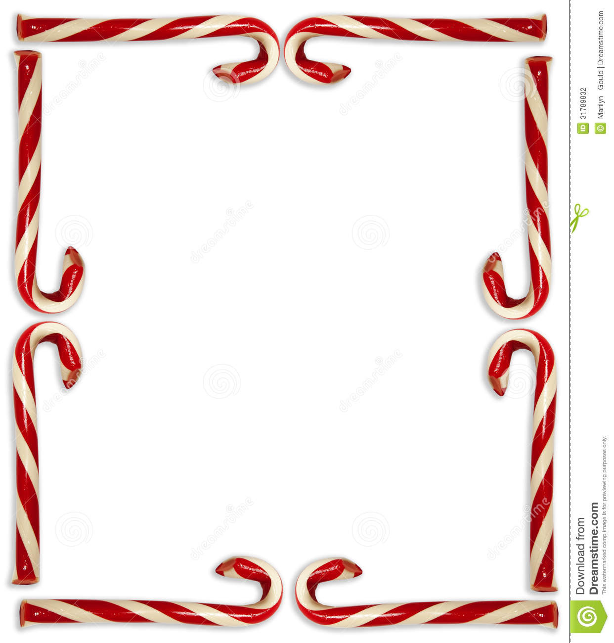 Free Candy Cane Border Clipart.