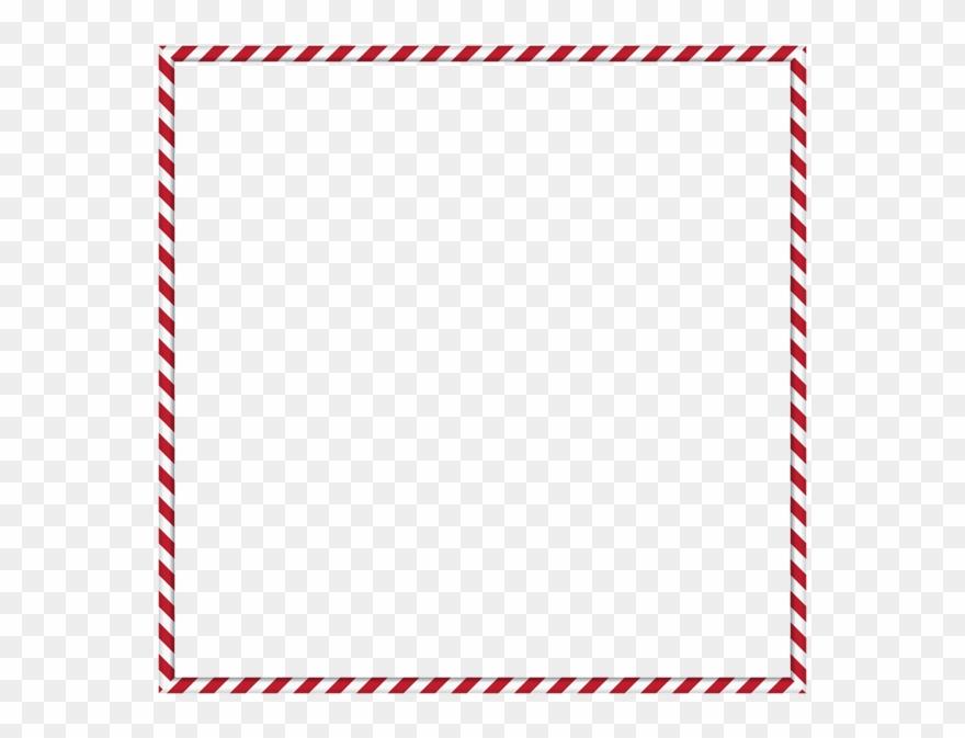Circular Candy Cane Border Clip Art.