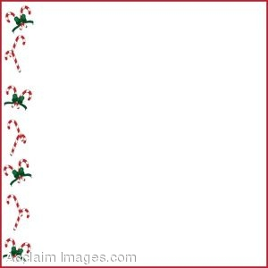 Clip Art of Christmas Page Border Made Of Candy Canes.