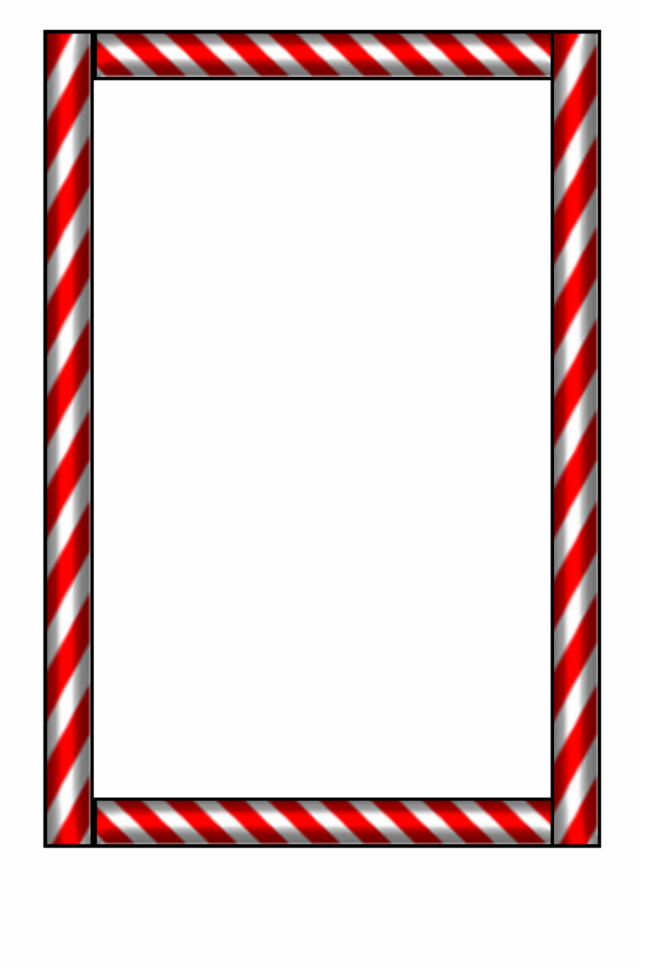Candy Cane Border Png.