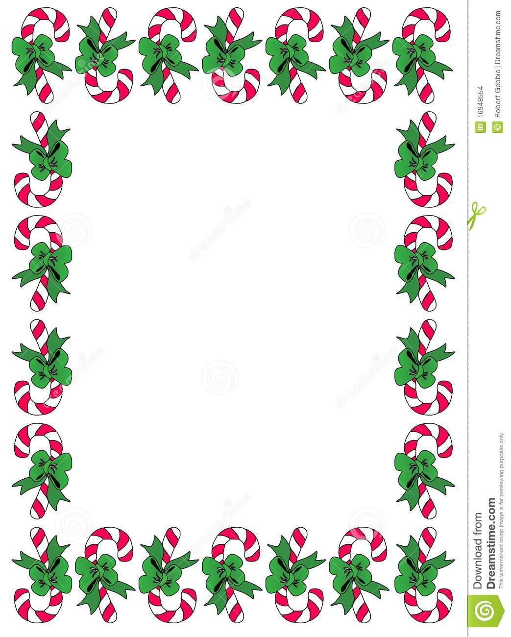 Candycane Border stock vector. Illustration of christmas.