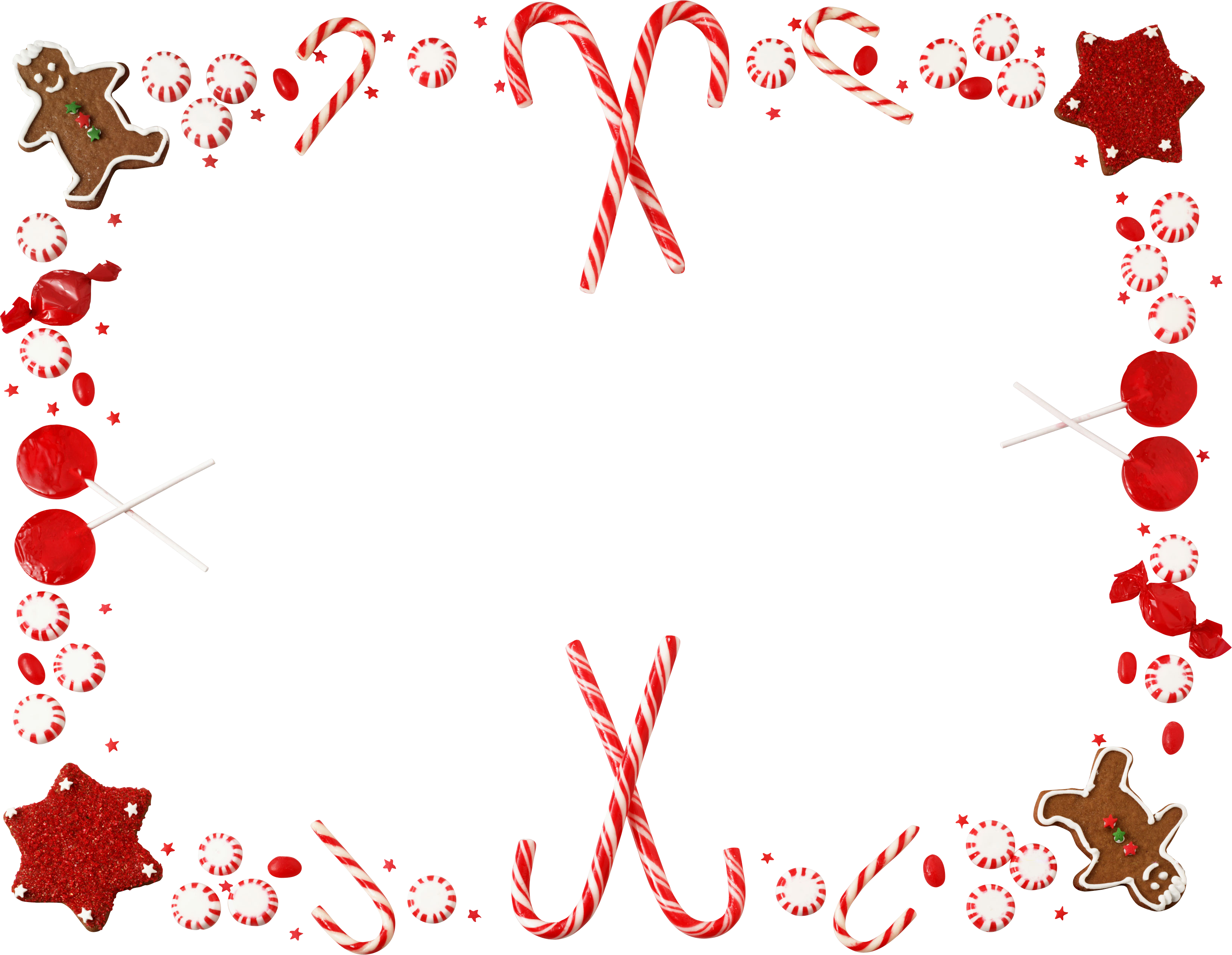 Candy Cane Christmas Border Clipart Free.