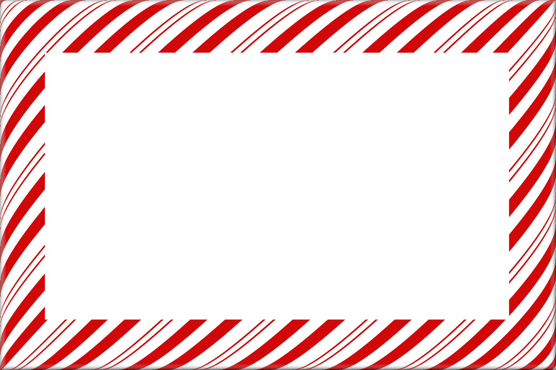 Candy Cane Christmas Borders And Frames Digital.