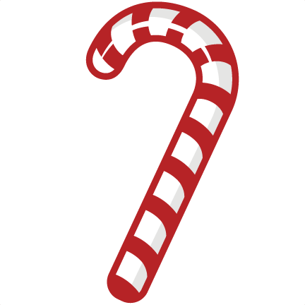 Candy Cane Black And White Clipart.