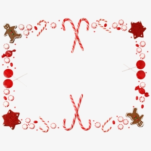 Candy Cane Christmas Border Clipart.