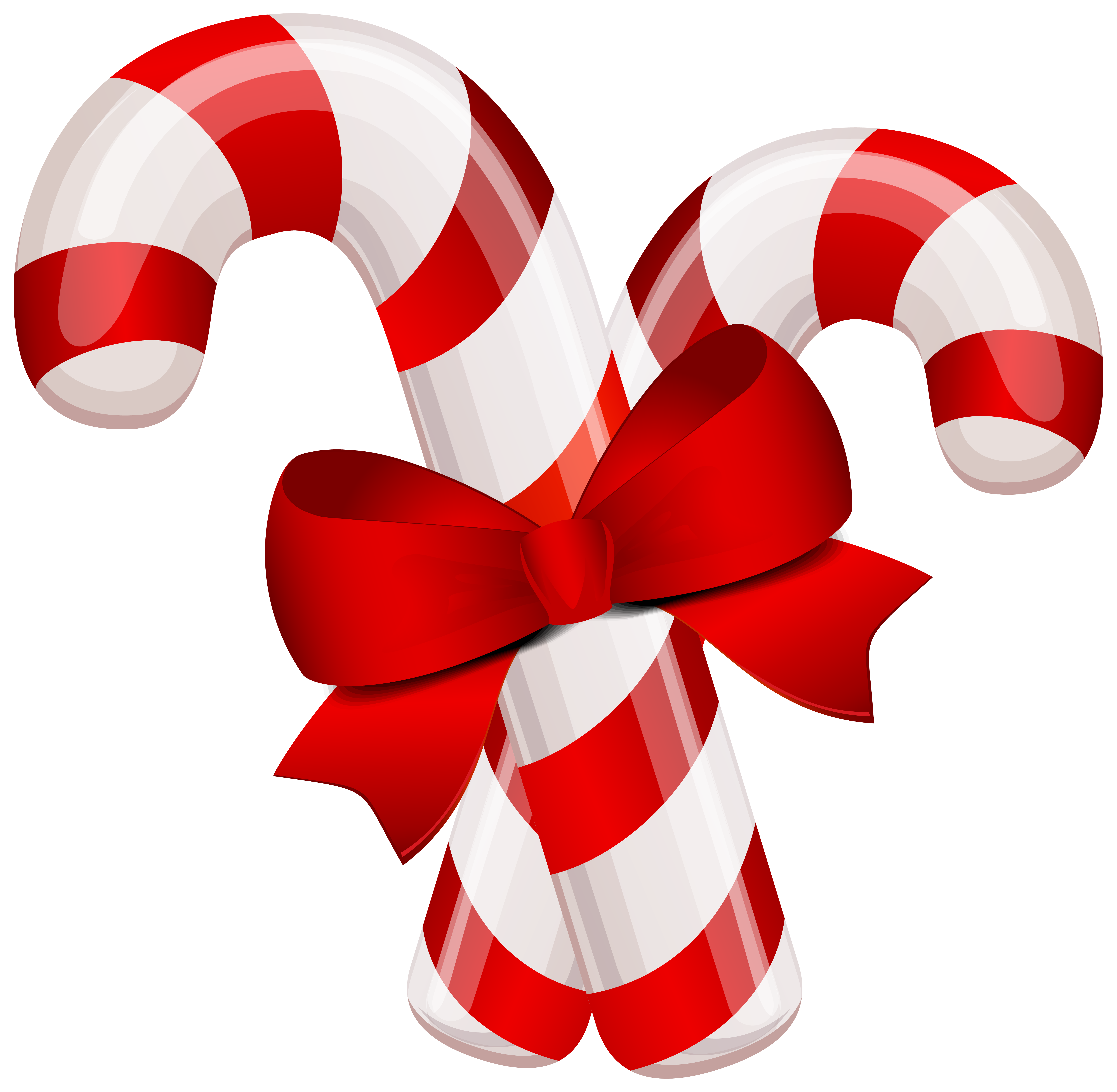 Christmas Classic Candy Canes PNG Clipart Image.