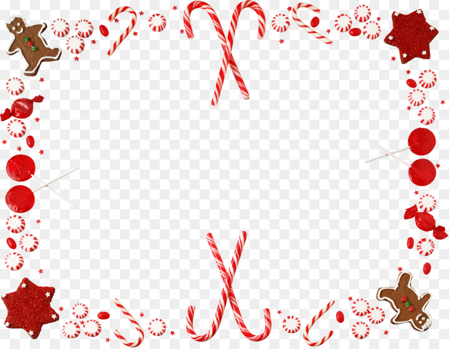 Candy Cane Christmas Borders And Frames Clip Art Garland Frame Png.