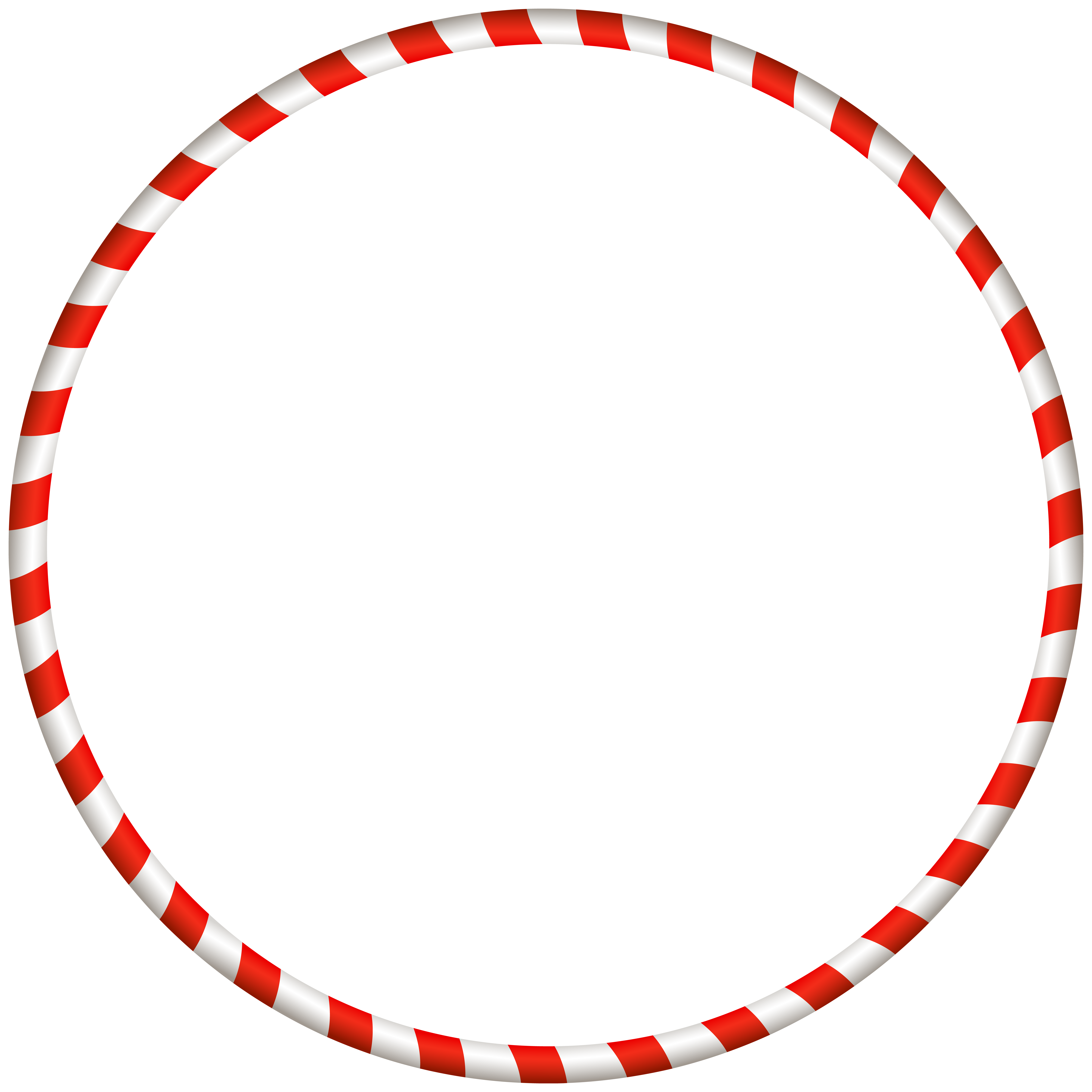Christmas Candy Cane Border Clip Art Image.