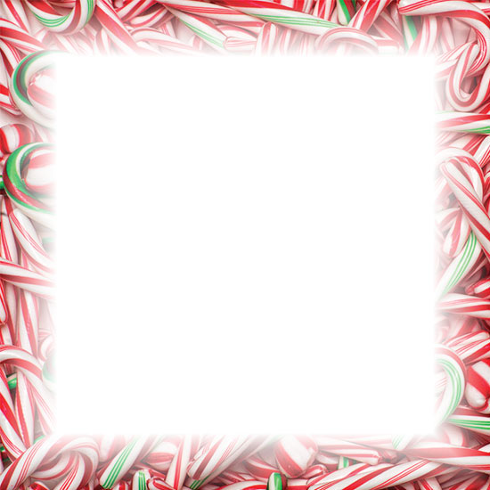 Free Christmas Candy Cane Borders.